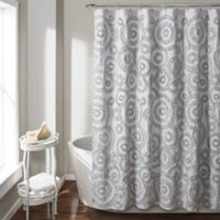 Keila 72-Inch x 84-Inch Shower Curtain in Grey