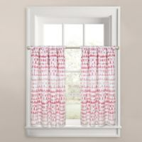 Colordrift Raindance Window Curtain Tier Pair in Blush