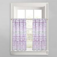Colordrift Raindance Window Curtain Tier Pair in Purple