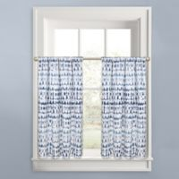 Colordrift Raindance Window Curtain Tier Pair in Indigo