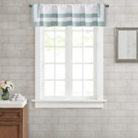 Wamsutta® Hotel Border Merrill Window Valance in Aqua