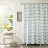 Tommy Bahama® Pineapple Pinstripe Shower Curtain in Indigo