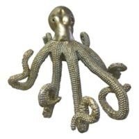 Moe's Home Collection Glam Octopus Figurine in Silver