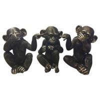 Moe's Home Collection He Did It Chimps Figurines (Set of 3)