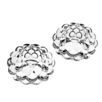 Godinger Honeycomb Votive Candle Holders in Clear (Set of 2)