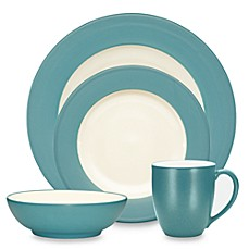 Noritakeu0026reg; Colorwave Rim Dinnerware Collection in Turquoise  sc 1 st  Bed Bath u0026 Beyond & Noritake® Colorwave Rim Dinnerware Collection in Turquoise - Bed ...