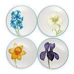 Noritake® Colorwave Floral Appetizer Plates in Turquoise (Set of 4)