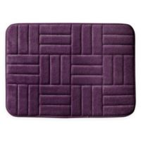 "Parquet 17"" x 24"" Bath Rug in Plum"