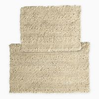 2-Piece Aldante Bath Rug Set in Taupe