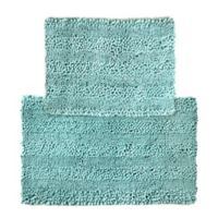 2-Piece Aldante Bath Rug Set in Light Blue