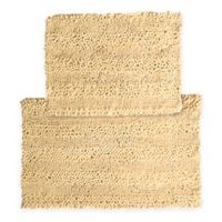 2-Piece Aldante Bath Rug Set in Butter Cream