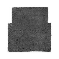 2-Piece Aldante Bath Rug Set in Charcoal Grey