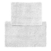 2-Piece Aldante Bath Rug Set in White