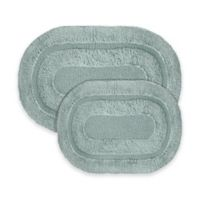 2-Piece Pearl Bath Rug Set in Spa Blue