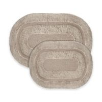 2-Piece Pearl Bath Rug Set in Taupe
