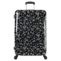 ED Ellen DeGeneres Laurel 28-Inch Hardside Spinner Checked Luggage in Black/Grey