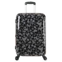ED Ellen DeGeneres Montecito 24-Inch Hardside Spinner Checked Luggage in Black/Grey