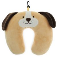 Capelli New York Embroidered Dog Travel Neck Pillow in Brown