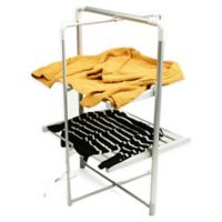 Mind Reader Portable Electric Heated Drying Rack in Silver