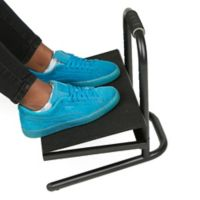 Mind Reader Adjustable Foot Rest in Black
