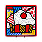 Britto™ by Giftcraft Cupcake 8-Inch Square Side Plate