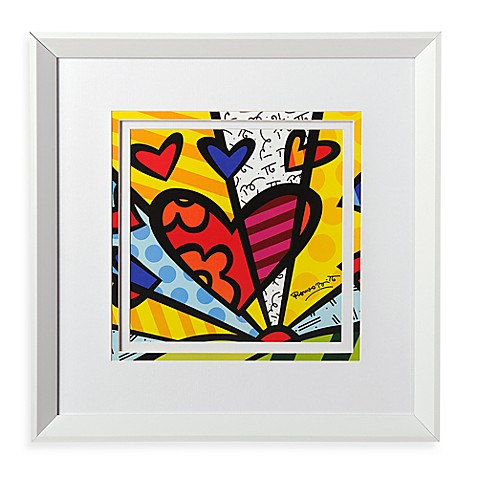 Britto™ by Giftcraft White Framed Poster in Heart