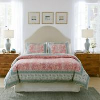 Pointehaven Casablanca King Duvet Cover Set in Red/Blue