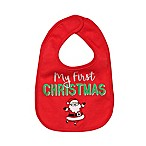 "Baby Starters® ""My First Christmas"" Bib in Red"
