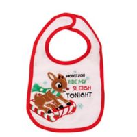 Baby Starters® Rudolph the Red Nosed Reindeer® Bib in White