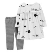 carter's® Newborn 2-Piece Animal Top and Legging Set in Ivory