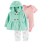 carter's® Size 6M 3-Piece Unicorn Layette Set in Mint