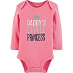 "carter's® Newborn ""Daddy's Little Princess"" Long Sleeve Bodysuit in Pink"