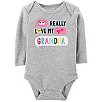 "carter's® Newborn ""Really Love My Grandpa"" Bodysuit in Heather Grey"