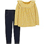 carter's® Size 3M 2-Piece Floral Top and Jegging Set