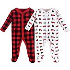 Hudson Baby® Size 0-3M 2-Pack Xmas Tree Truck Footies