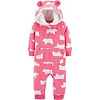 carter's Newborn Hooded Polar Bear Romper in Pink