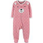 carter's® Size 3M Fleece Bear Footie in Pink