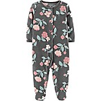 carter's® Size 3M Fleece Floral Footie in Grey