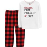 carter's® Size 12M 2-Piece Christmas Thermal & Fleece PJs in Red
