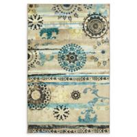 Mohawk Caloundra 5' x 8' Area Rug in Turquoise