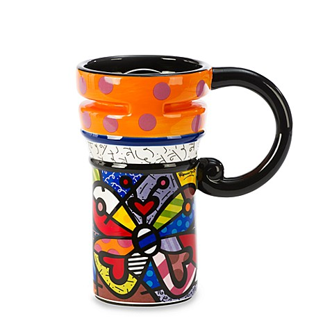 Britto™ by Giftcraft Butterfly 14-Ounce Travel Mug