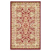 Unique Loom Agra 3'3 x 5'3 Area Rug in Red