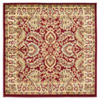 Unique Loom Agra 4' Square Accent Rug in Red