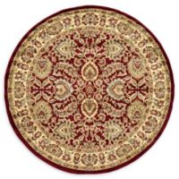 Unique Loom Agra 6' Round Area Rug in Red