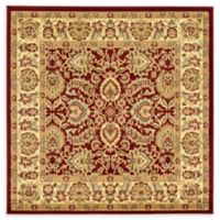 Unique Loom Agra 6' Square Area Rug in Red