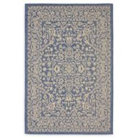 Allover 4' x 6' Indoor/Outdoor Area Rug in Blue