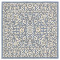 Allover 6' x 6' Indoor/Outdoor Area Rug in Blue