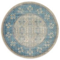 Unique Loom Salzburg 6' Round Area Rug in Beige