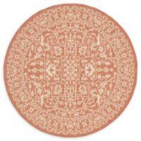 Terracotta Indoor/Outdoor 6' Round Area Rug in Pink/Orange