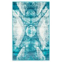 Unique Loom Sofia 3' x 5' Area Rug in Turquoise